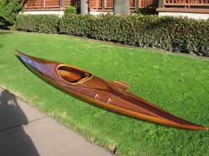 cedar strip-built kayak