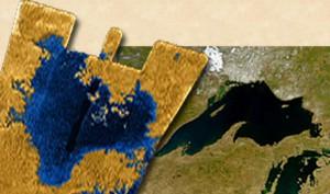 Titan Sea and Lake Superior, to scale.